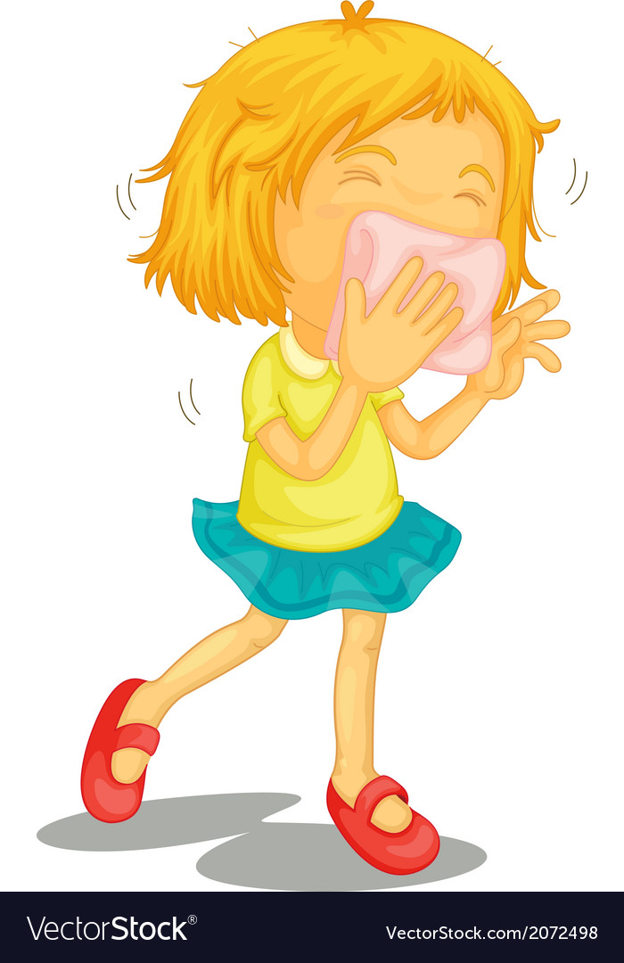 A little girl with colds vector | Price: 1 Credit (USD $1)