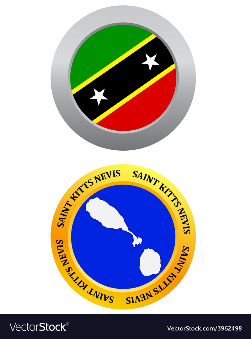 Button as a symbol saint kitts nevis vector | Price: 1 Credit (USD $1)