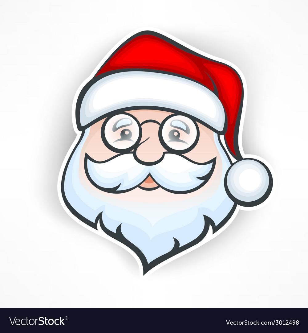 Cheerful santa face vector