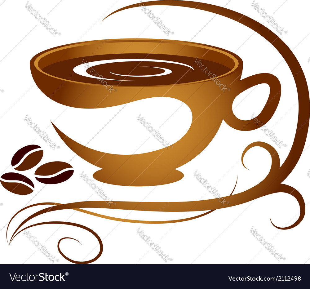Coffee cup with pattern vector | Price: 1 Credit (USD $1)