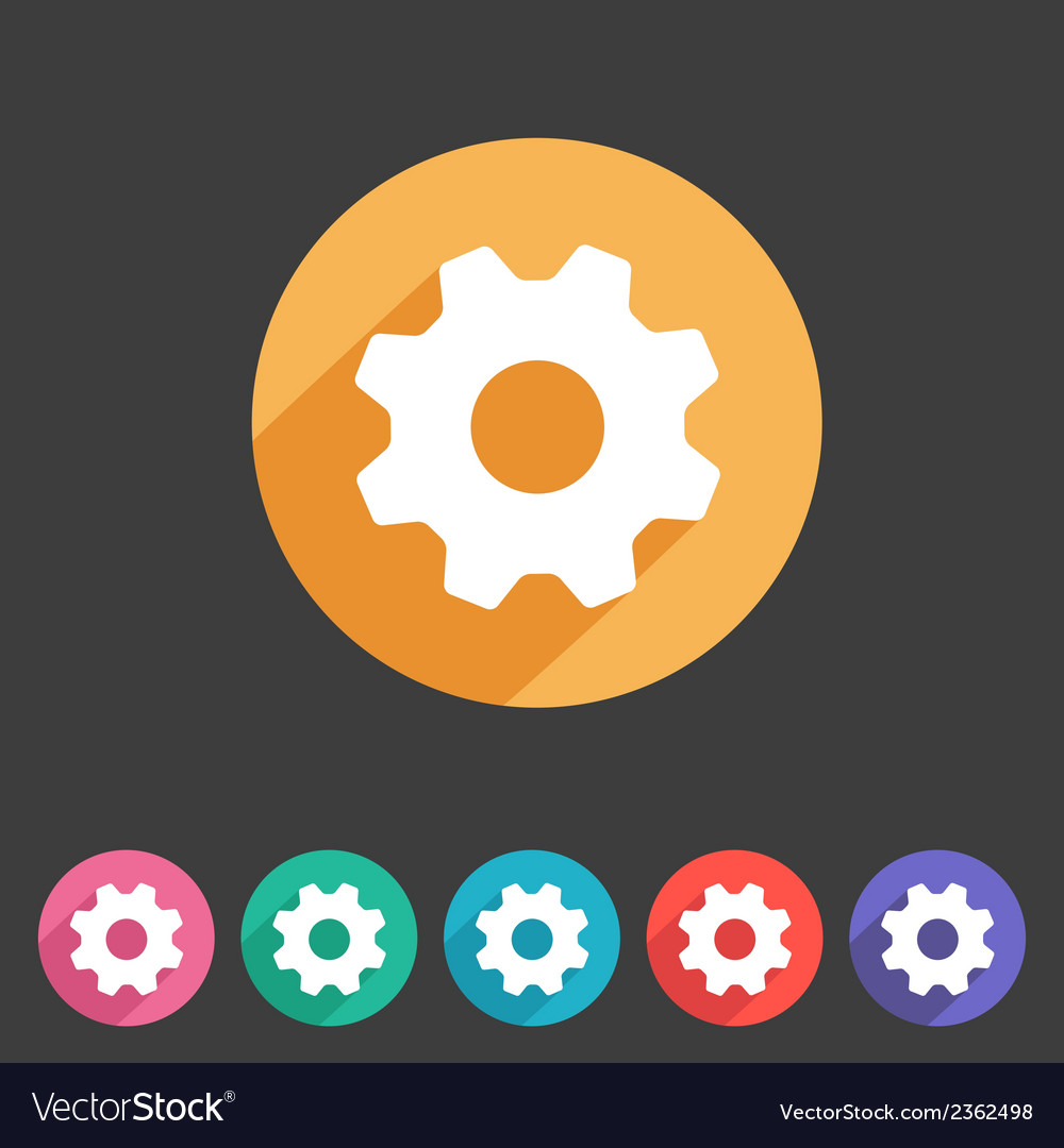 Flat game graphics icon settings vector   Price: 1 Credit (USD $1)