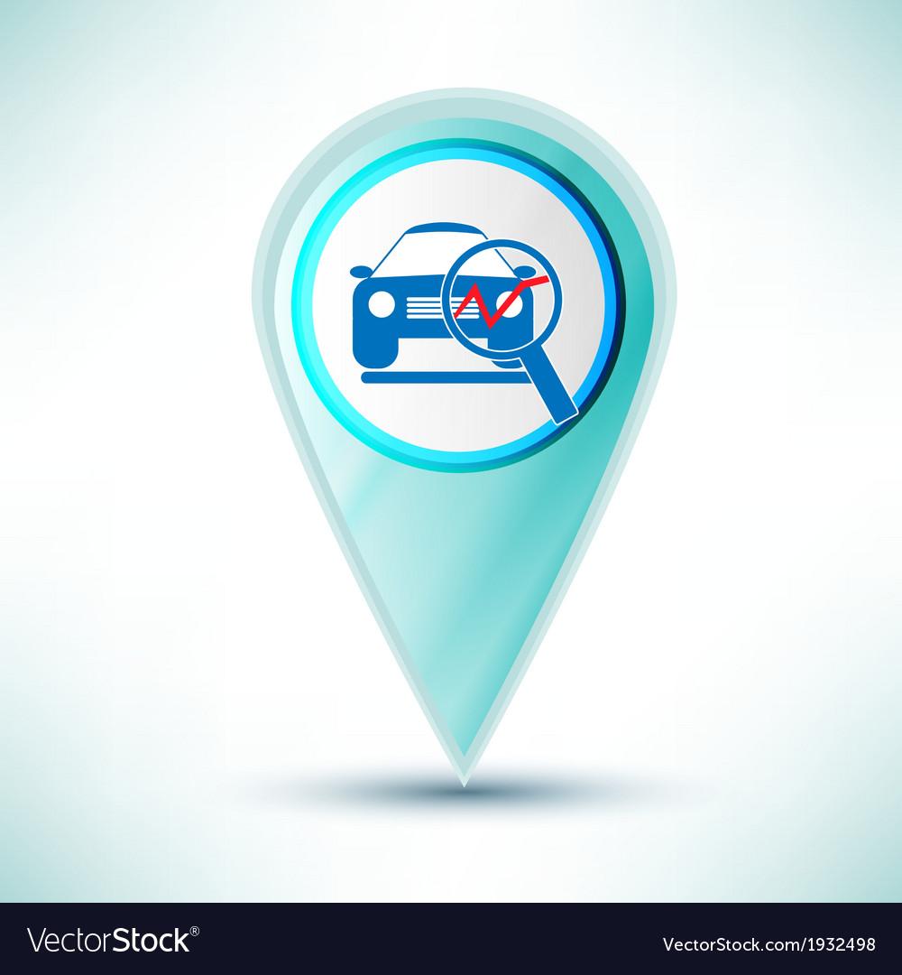 Glossy car service icon icon button design element vector | Price: 1 Credit (USD $1)