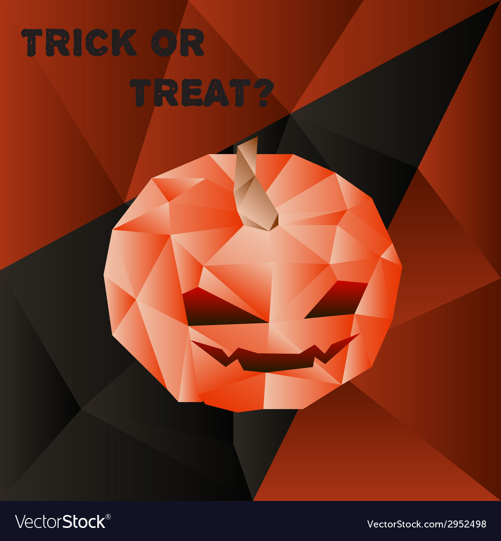 Halloween poster with scary pumpkin head in vector | Price: 1 Credit (USD $1)
