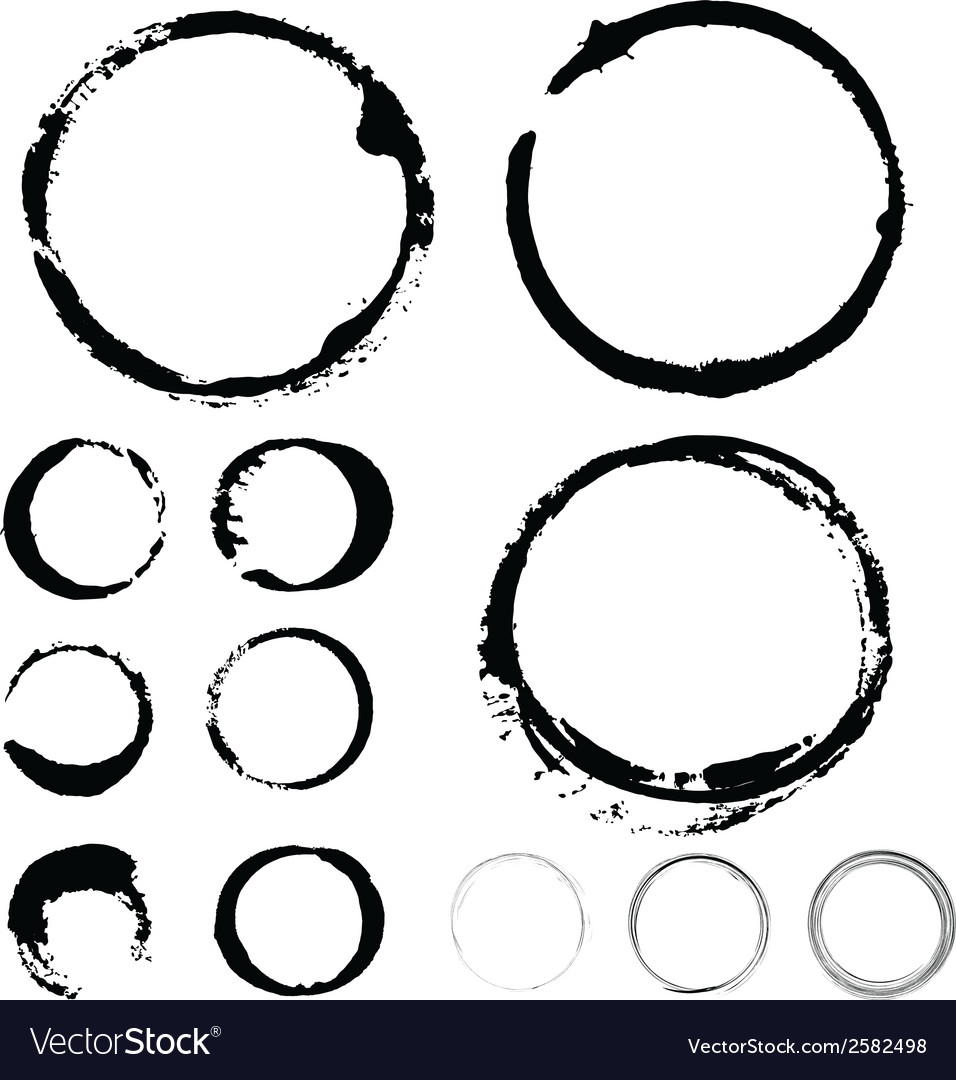 Ink stains paint ring vector | Price: 1 Credit (USD $1)