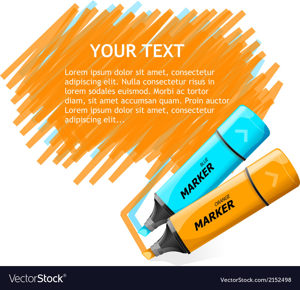 Marker text box vector | Price: 1 Credit (USD $1)