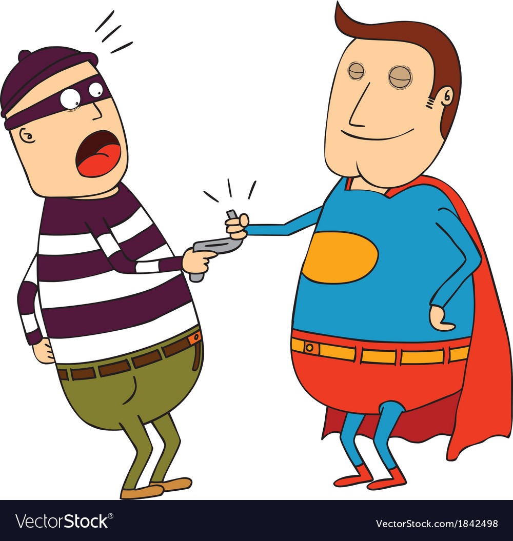 Super hero man vector | Price: 1 Credit (USD $1)