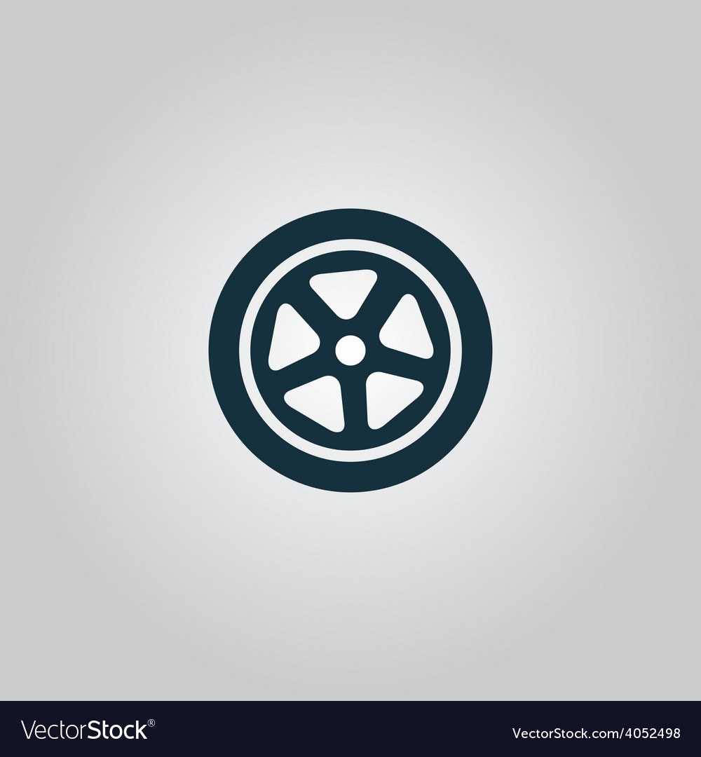 Wheel icon vector   Price: 1 Credit (USD $1)