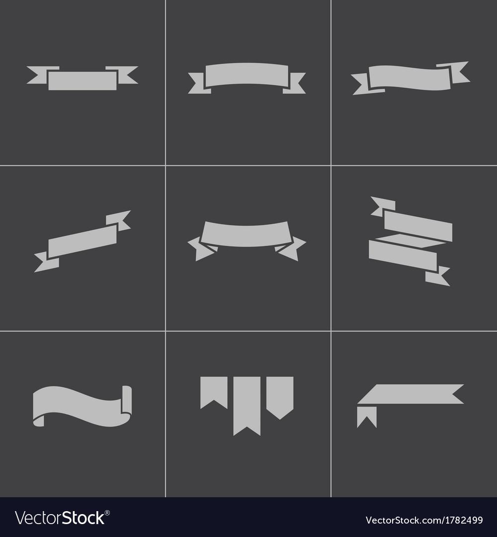 Black ribbon icons set vector   Price: 1 Credit (USD $1)