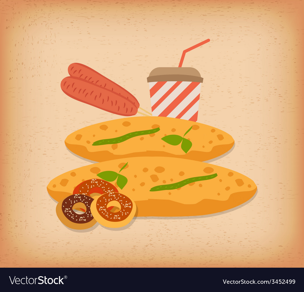 Bread for breakfast vector | Price: 1 Credit (USD $1)