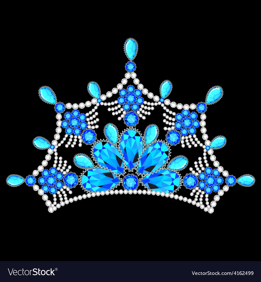 Crown tiara women with glittering precious vector | Price: 1 Credit (USD $1)