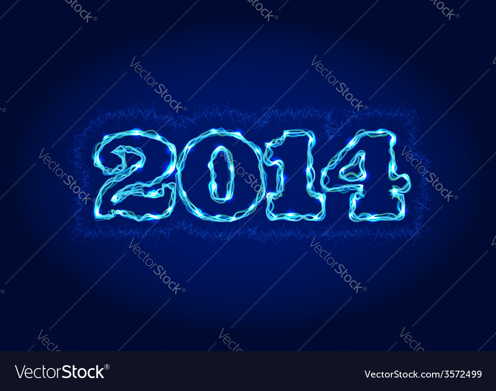 Electric 2014 year sign vector | Price: 1 Credit (USD $1)