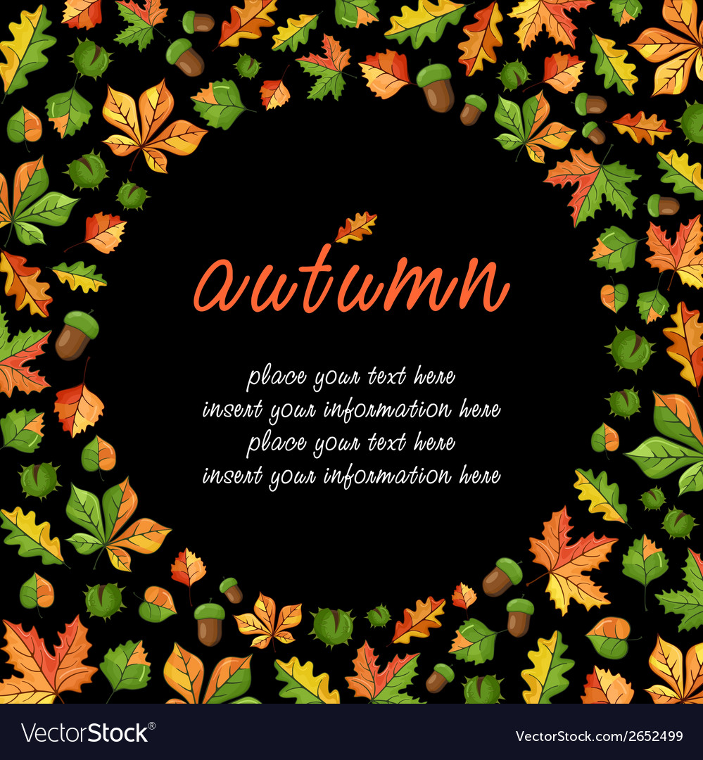 Fall season card with lettering vector | Price: 1 Credit (USD $1)