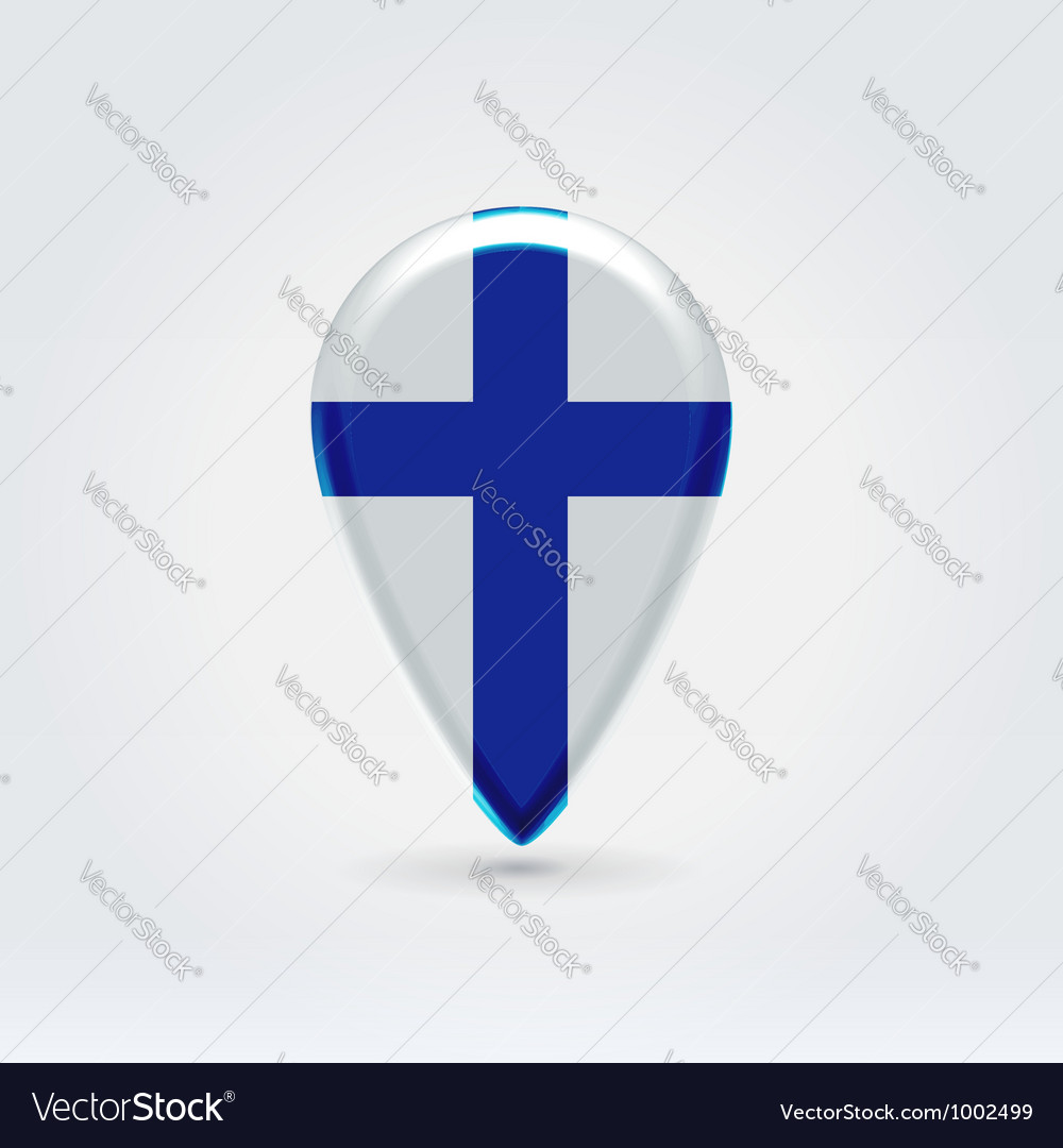 Finland icon point for map vector | Price: 1 Credit (USD $1)