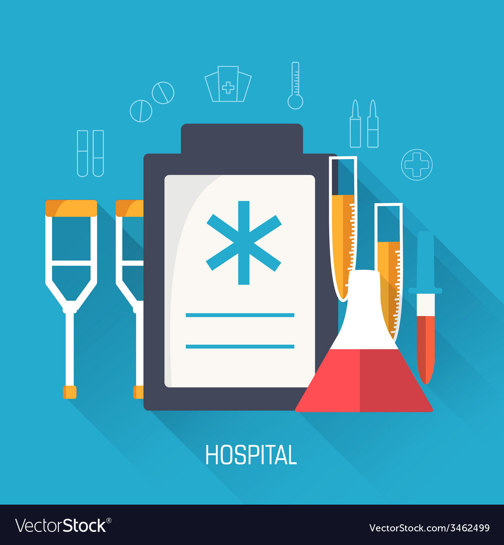 Flat medical equipment set icons concept vector | Price: 1 Credit (USD $1)