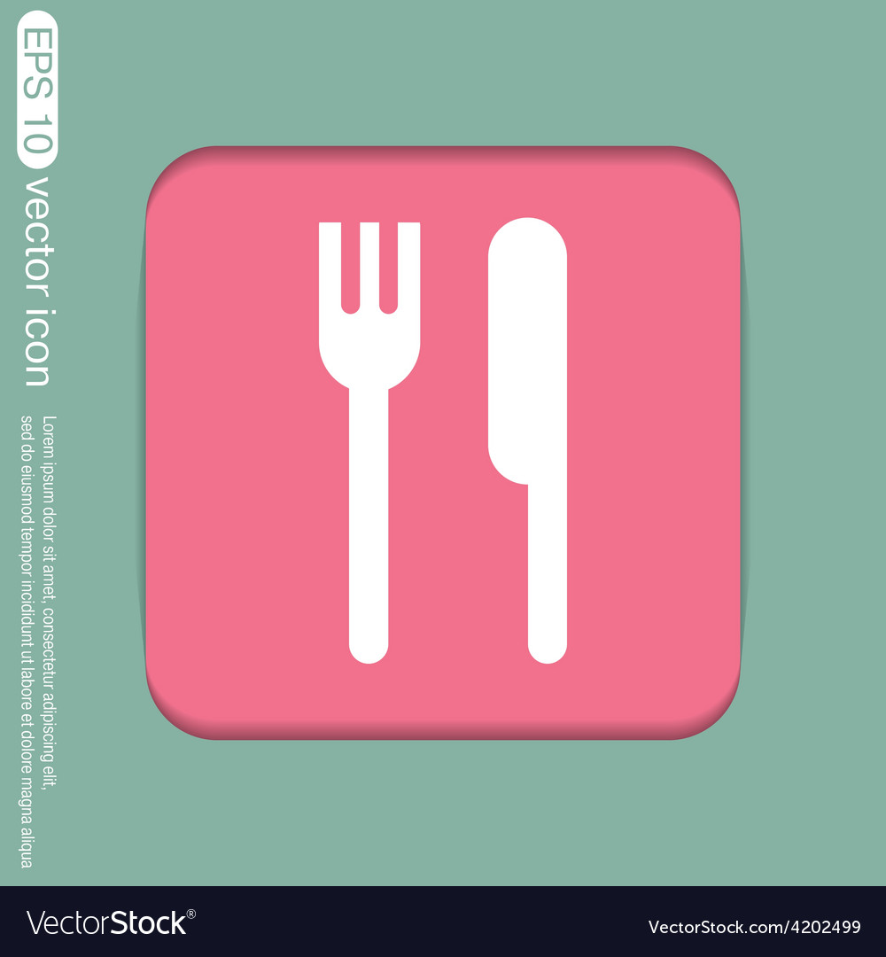 Fork and knife symbol lunch cutlery vector | Price: 1 Credit (USD $1)