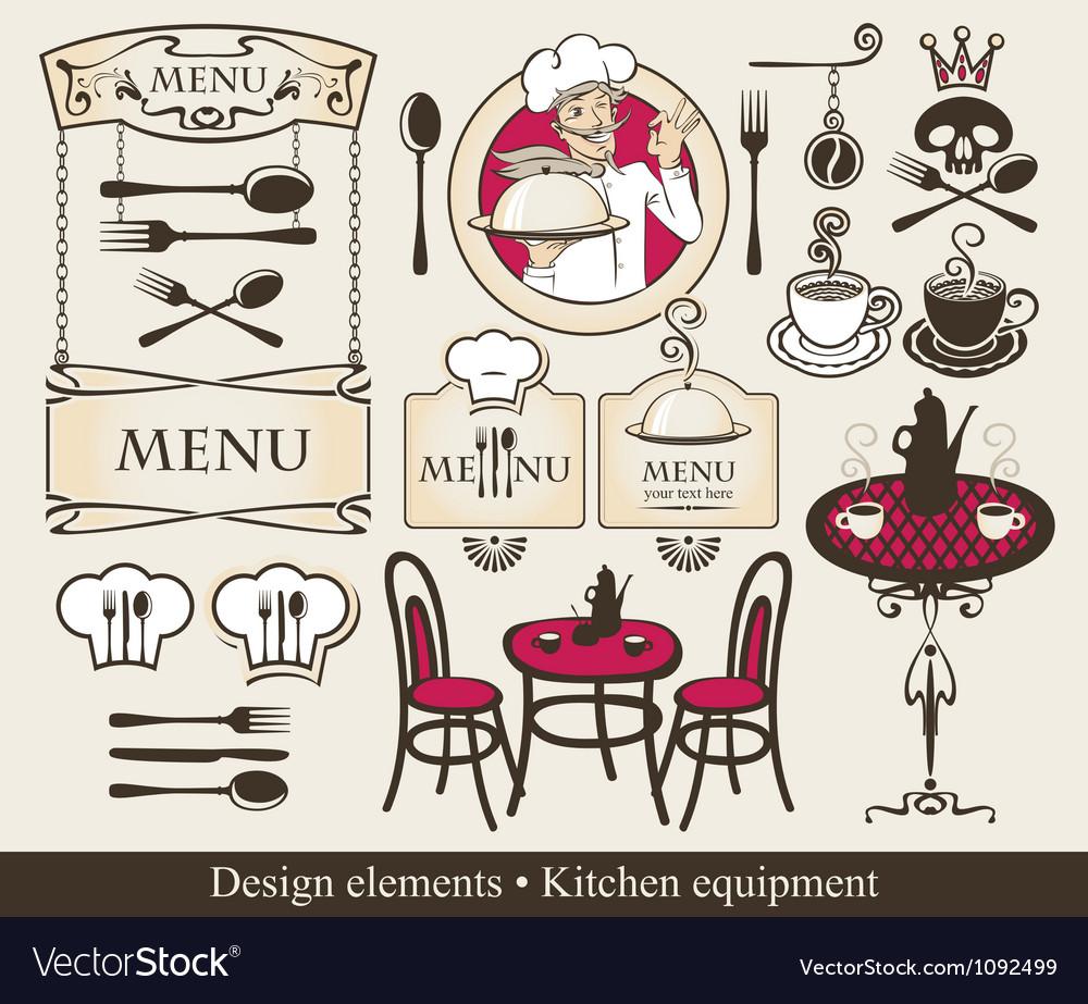 Kitchen equipment vector | Price: 1 Credit (USD $1)