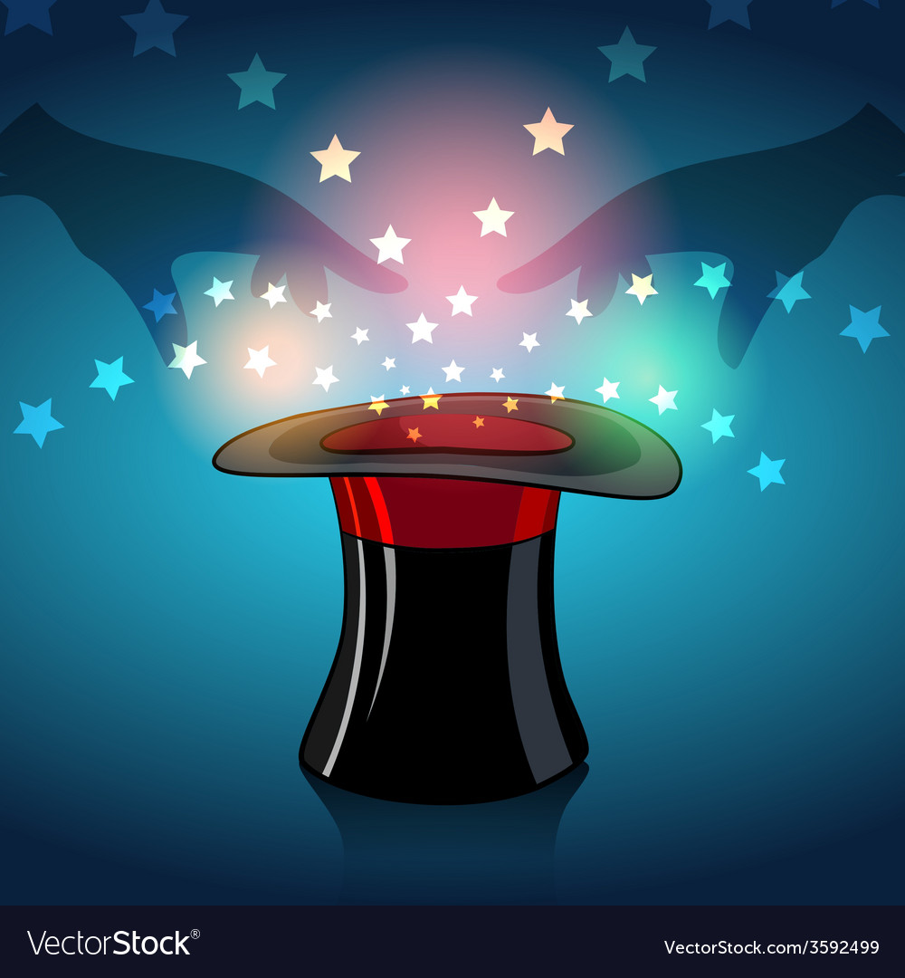 Magic hat vector | Price: 3 Credit (USD $3)