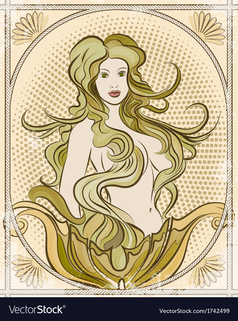 The mermaid vector | Price: 1 Credit (USD $1)