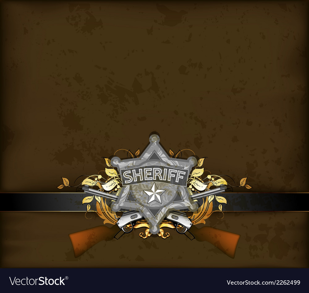 Ornate frame with sheriff star vector | Price: 1 Credit (USD $1)
