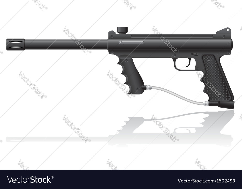 Paintball marker 01 vector | Price: 1 Credit (USD $1)