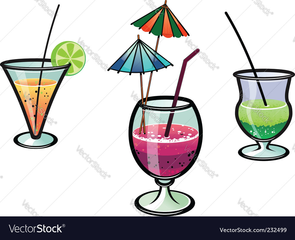 Party cocktails vector | Price: 1 Credit (USD $1)