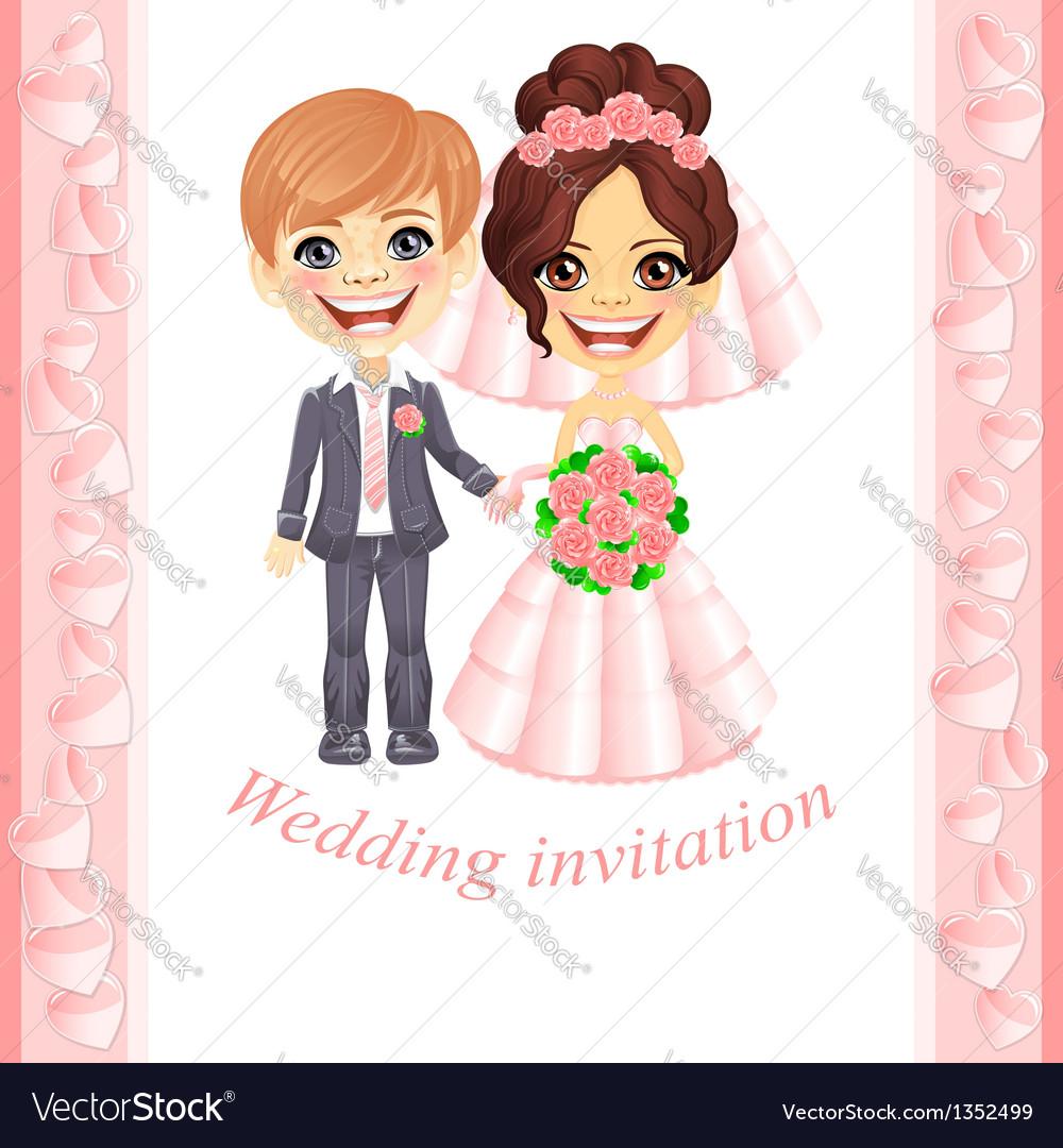 Pink wedding invitation vector | Price: 3 Credit (USD $3)