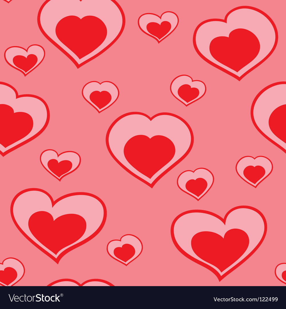 Valentines day abstract seamless background vector | Price: 1 Credit (USD $1)