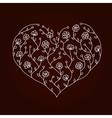 Flowers heart vector