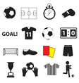 Soccer football simple black icons set eps10 vector