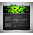 Website template in black and green colors vector