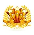 Laurel emblem vector