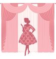 Vintage lady in a dress vector