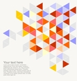 Geometric grey yellow blue triangle card vector