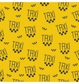 Seamless pattern of taxi sign vector
