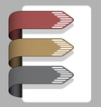 Striped arrow ribbon signs vector
