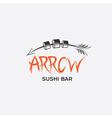 Arrrow sushi bar restaurant vector