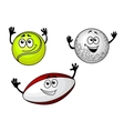 Golf tennis and football balls vector