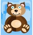 Teddy bear on a blue background vector