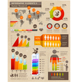 Retro color infographics people elements vector