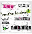 Emo logos vector