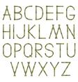 Bamboo alphabet vector
