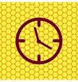 Clock time icon symbol flat modern web design with vector