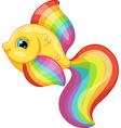 Rainbow fish vector