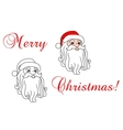 Santa claus in red hat vector