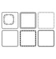 Set - square decorative frames vector
