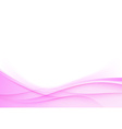 Pink wedding background smooth swoosh waves vector
