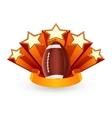 American football emblem vector