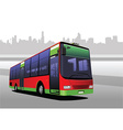 Bus on the road vector