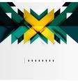 Futuristic geometric shapes minimal design vector