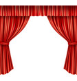 Theater curtains isolated vector